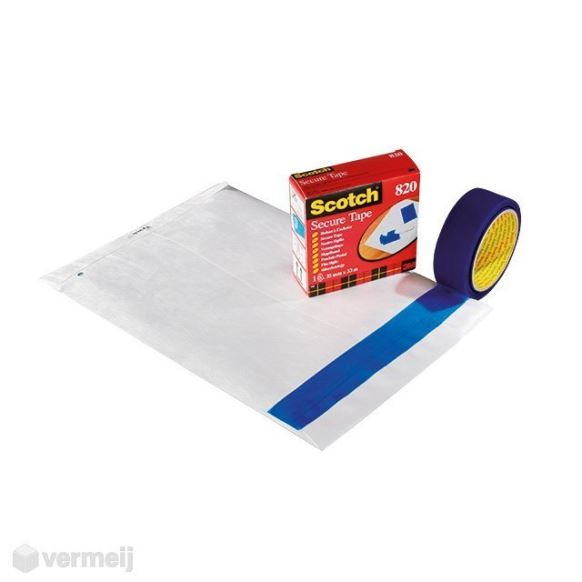 Securitex enveloppen - 1 Scotch verzegeltape 820-002-004