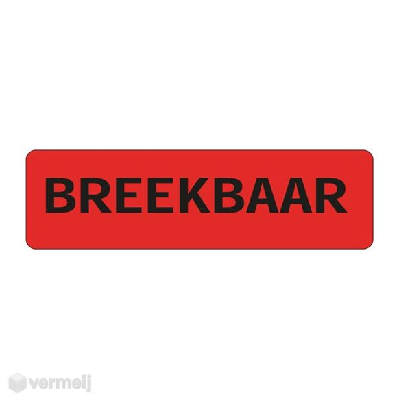 1 Sticker Breekbaar