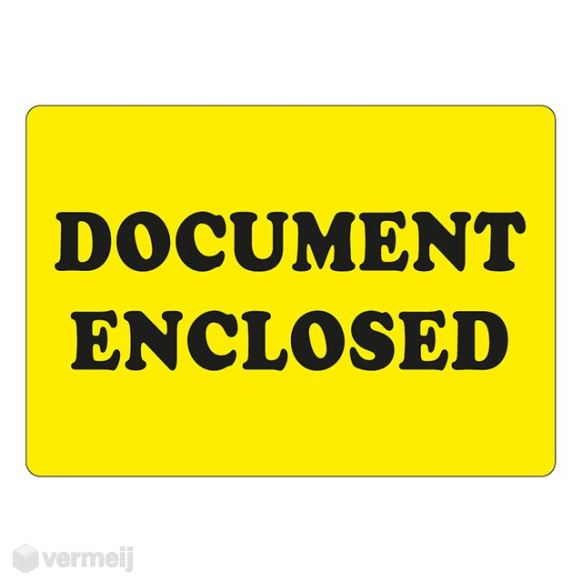 1 Sticker Document Enclosed 2