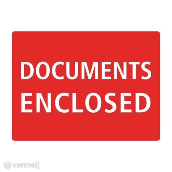 1 Sticker Documents enclosed b