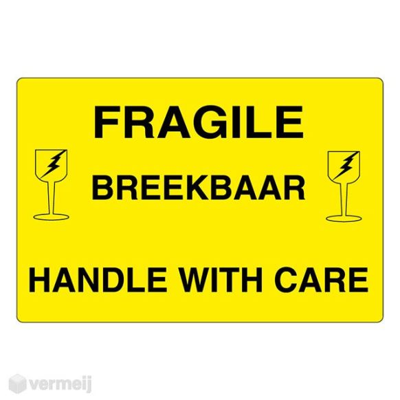1 Sticker Fragile Breekbaar 2