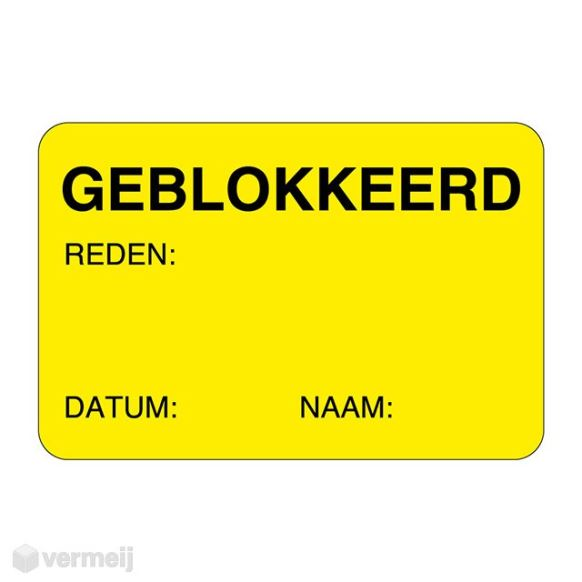 1 Sticker Geblokkerd