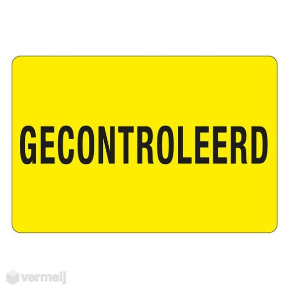 Shipping en attention labels - 1 Sticker Gecontroleerd 2