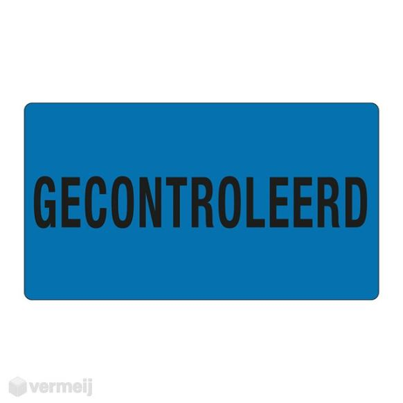 1 Sticker Gecontroleerd