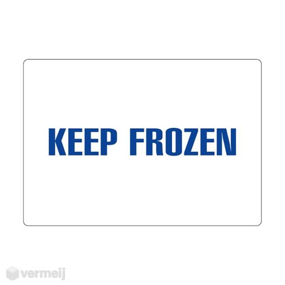 1 Sticker Keep frozen