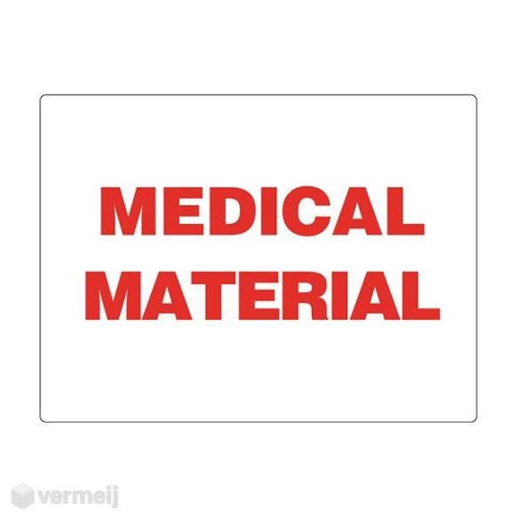 1 Sticker Medical material