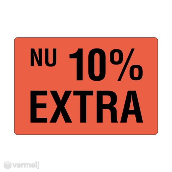 1 Sticker Nu 10proc extra