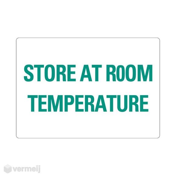 1 Sticker Store at room temperature