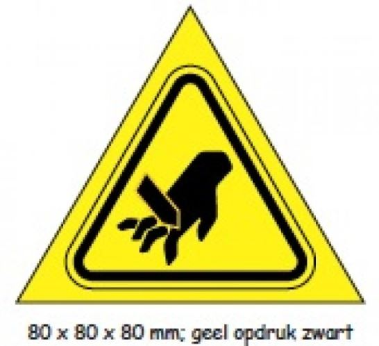 "Shipping en attention labels - ""WAARSCHUWING"" geel/zwart 80 x 80 x 80 mm"