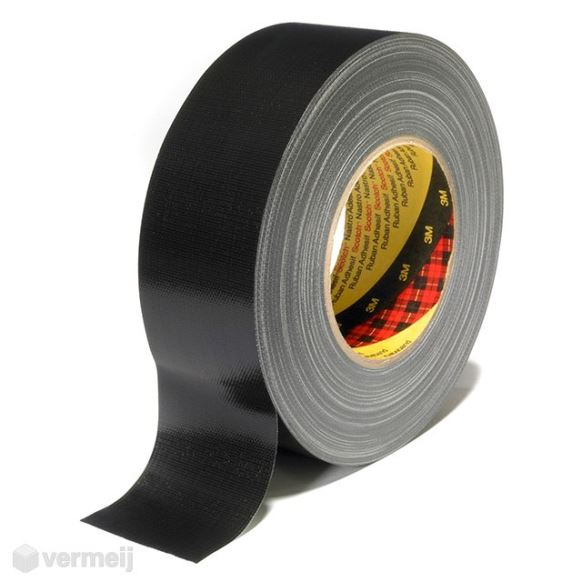 Duct tape - DUCT tape Scotch 389BL, 50 mm x 50 mtr ZWART