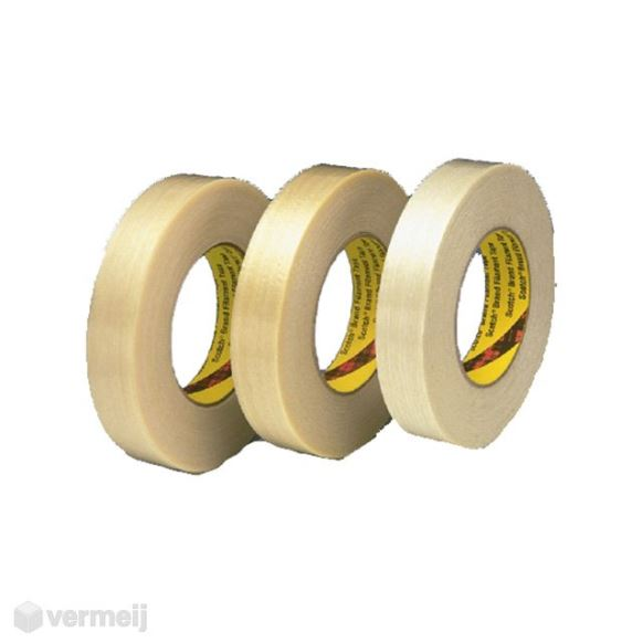 Versterkt tape - Versterkte tape 19 mm x 50 mtr Scotch 8956  (Lengteversterkt)