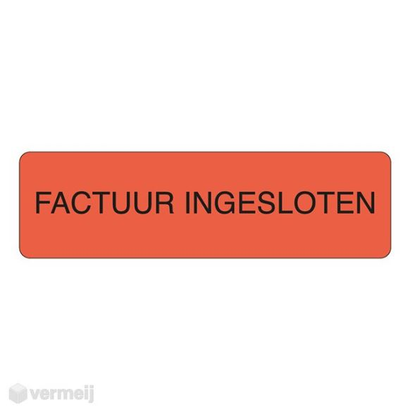 Shipping en attention labels -  FACTUUR INGESLOTEN