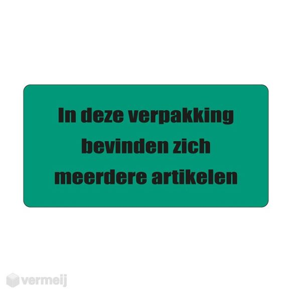 Shipping en attention labels -  IN DEZE VERPAKKING ..