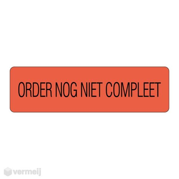 Shipping en attention labels -  ORDER NOG NIET  COMPLEET