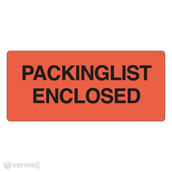 Shipping en attention labels -  PACKINGLIST ENCLOSED