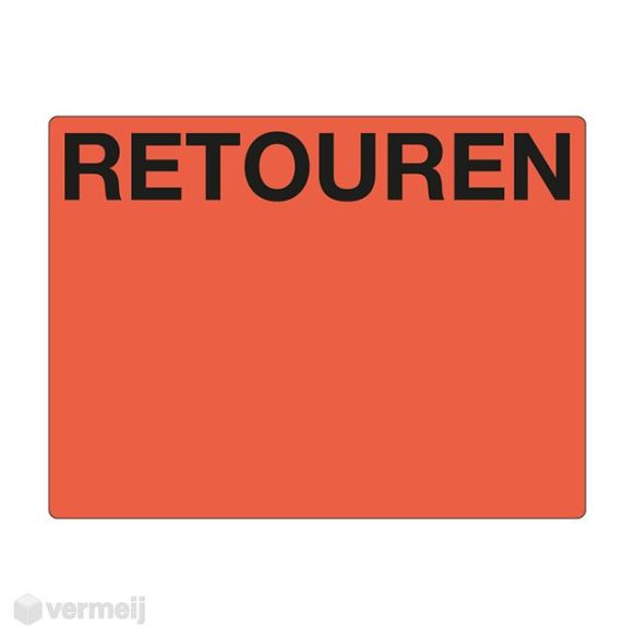 Shipping en attention labels -  RETOUREN