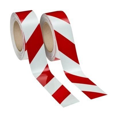 Reflecterende tape - Refl. tape 3M 50 mm x 25 mtr rood/wit