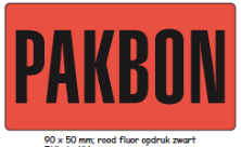 Shipping en attention labels -  PAKBON