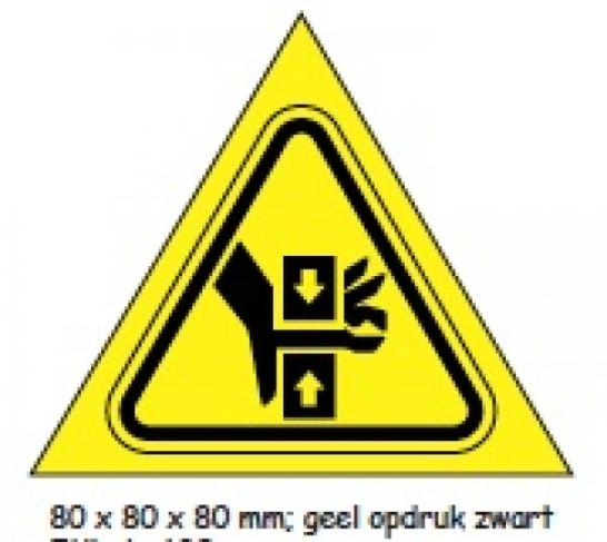 Shipping en attention labels -  WAARSCHUWING